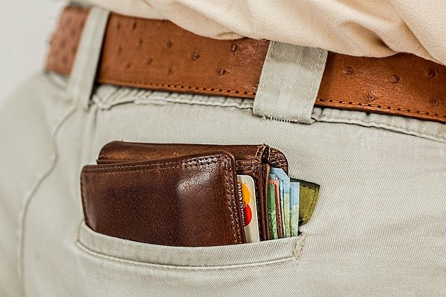 kapsa s peněženkou