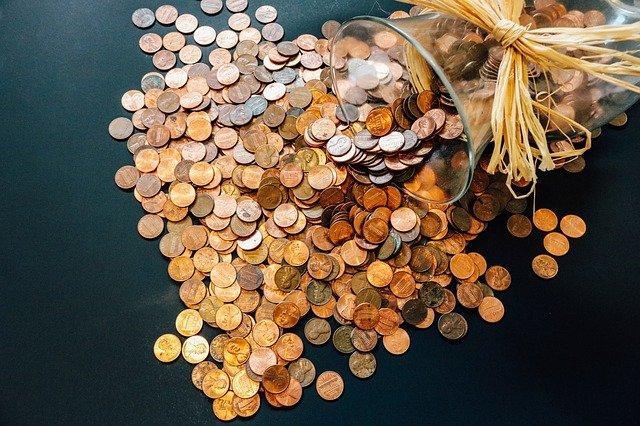 rozsypané mince