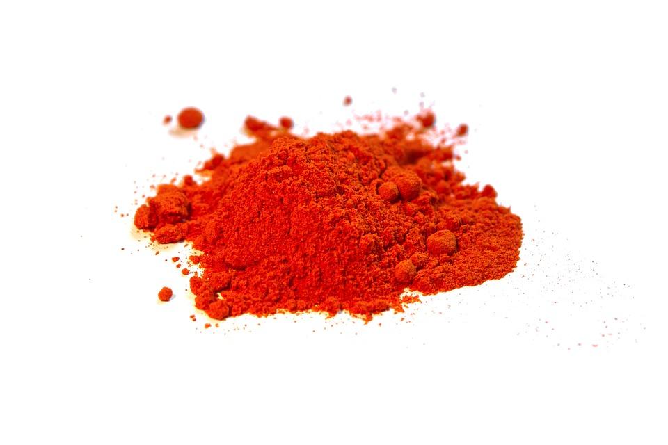 paprika v podobě koření